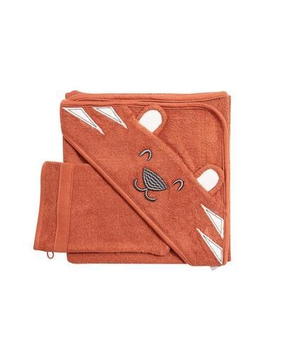 Cape + gant de toilette